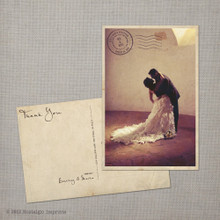 Maria - 4x6 Vintage Wedding Thank You Postcard