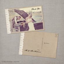 Maribelle - 4x6 Vintage Wedding Thank You Postcard card