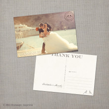 Mercedes - 4x6 Vintage Wedding Thank You Postcard card