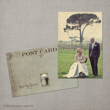 Nyah - 4x6 Vintage Wedding Thank You Postcard