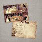 Paloma - 5x7 Vintage Wedding Thank You Postcard card