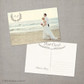 Paulina - 4x6 Vintage Wedding Thank You Postcard card