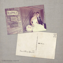 Raina - 4x6 Vintage Wedding Thank You Postcard card