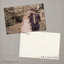 Serenity - 4x6 Vintage Wedding Thank You Card