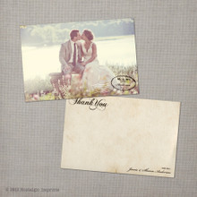 Sharon - 4x6 Vintage Wedding Thank You Card