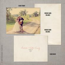 Tahlia - 4.25x5.5 Folded Vintage Wedding Thank You Card