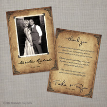 Tasha - 4x6 Vintage Wedding Thank You Card