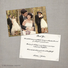 Valentina - 4x6 Vintage Wedding Thank You Card