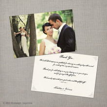 Veronica - 4x6 Vintage Wedding Thank You Card