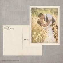 Victoria - 4.25x5.5 Vintage Wedding Thank You Postcard