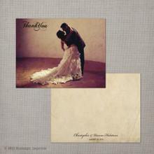 Vienna - 4.25x5.5 Vintage Wedding Thank You Card