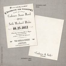 Cadence 1 - 5x7 Vintage Wedding Invitation