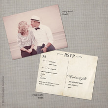 Cadence 1 - 4.25x5.5 Vintage RSVP Postcard