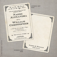 Naomi - 5x7 Vintage Wedding Invitation