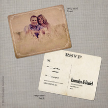 Emmalyn 1 - 4.25x5.5 Vintage RSVP Postcard