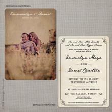 Emmalyn 3 - 5x7 Vintage Wedding Invitation