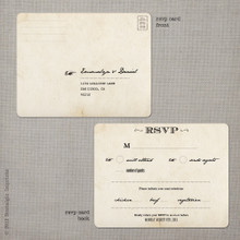 Emmalyn 3 - 4.25x5.5 Vintage RSVP Postcard