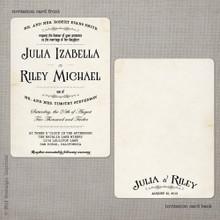 Julia 1 - 5x7 Vintage Wedding Invitation
