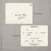 Julia 1 - 4.25x5.5 Vintage RSVP Postcard