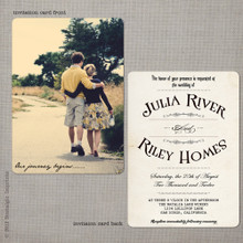 Julia 2 - 5x7 Vintage Wedding Invitation