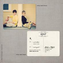 Julia 2 - 4.25x5.5 Vintage RSVP Postcard