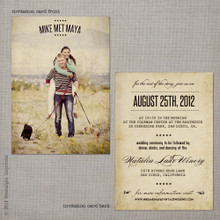 Maya 1 - 5x7 Vintage Wedding Invitation