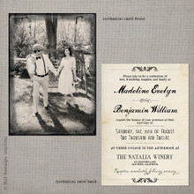 Madeline 1 - 5x7 Vintage Wedding Invitation