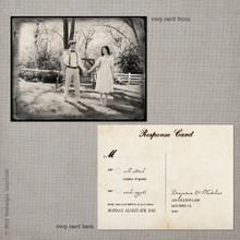 Madeline 1 - 4.25x5.5 Vintage RSVP Postcard