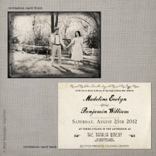 Madeline 2 - 5x7 Vintage Wedding Invitation