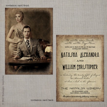 Natasha 1 - 5x7 Vintage Wedding Invitation