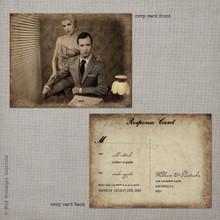 Natasha 1 - 4.25x5.5 Vintage RSVP Postcard