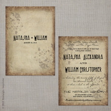 Natasha 2 - 5x7 Vintage Wedding Invitation