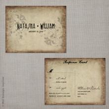 Natasha 2 - 4.25x5.5 Vintage RSVP Postcard