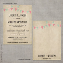 Lavinia 1 - 5x7 Vintage Wedding Invitation