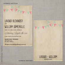 Lavinia 2 - 5x7 Vintage Wedding Invitation