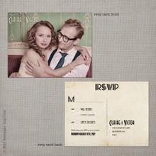 Claire - 4.25x5.5 Vintage RSVP Postcard