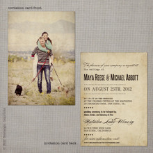 Maya 2 - 5x7 Vintage Wedding Invitation
