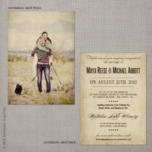 Maya 3 - 5x7 Vintage Wedding Invitation