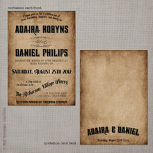 Adaira 1 - 5x7 Vintage Wedding Invitation