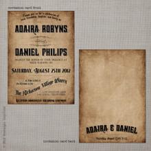 Adaira 1 - 5x7 Vintage Wedding Invitation
