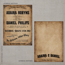 Adaira 2 - 5x7 Vintage Wedding Invitation
