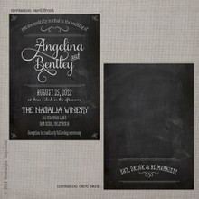 Angelina 1 - 5x7 Vintage Wedding Invitation