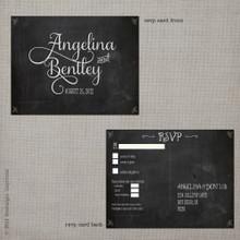 Angelina 1 - 4.25x5.5 Vintage RSVP Postcard