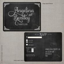 Angelina 2 - 4.25x5.5 Vintage RSVP Postcard