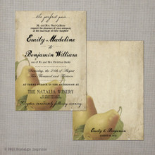Perfect Pair - 5x7 Vintage Wedding Invitation