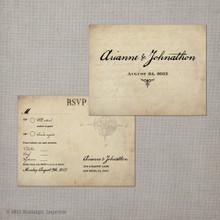 Arianne 1 - 4.25x5.5 Vintage RSVP Postcard