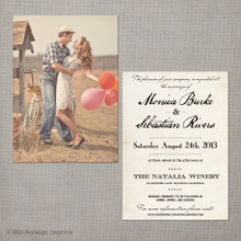 Monica - 5x7 Vintage Wedding Invitation