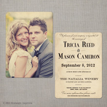 Tricia - 5x7 Vintage Wedding Invitation
