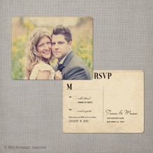 Tricia - 4.25x5.5 Vintage RSVP Postcard