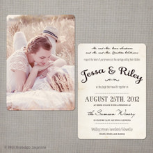 Jessa - 5x7 Vintage Wedding Invitation